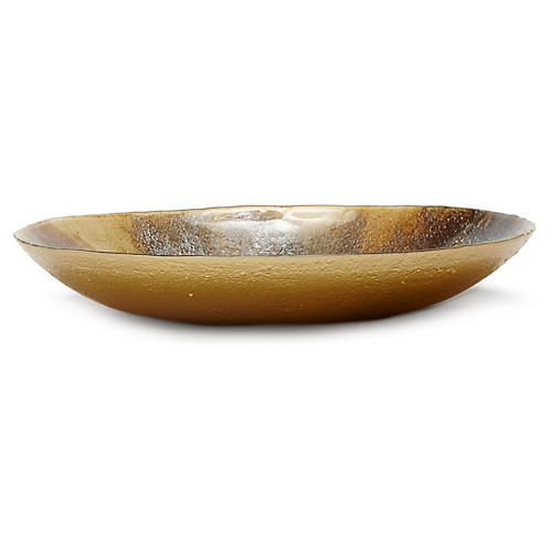 Earth Glass Large Serving Bowl