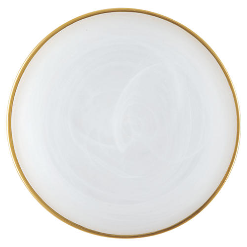 Alabaster White w/ Gold Edge Salad Plate