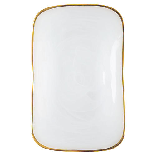 Alabaster White Rectangular Platter