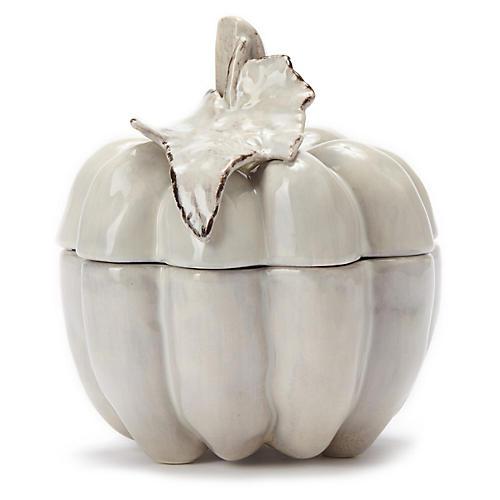 Natura Small Covered Pumpkin