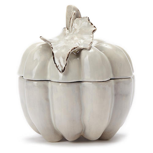 Natura Small Covered Pumpkin