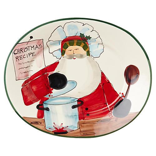 Old St. Nick Large Oval Platter