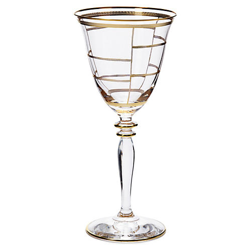 Elegante Grid Wineglass