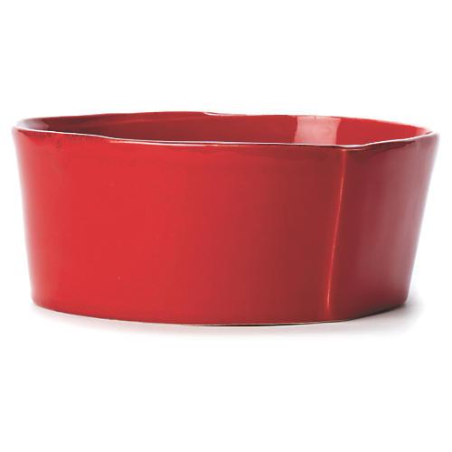 Lastra Red Medium Serving Bowl