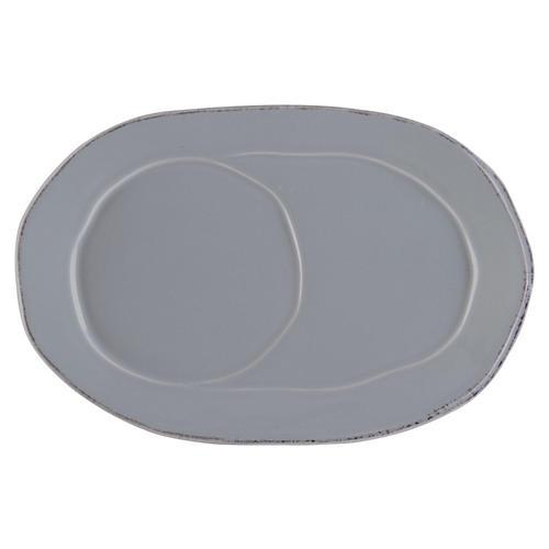 Lastra Oval Tray, Gray