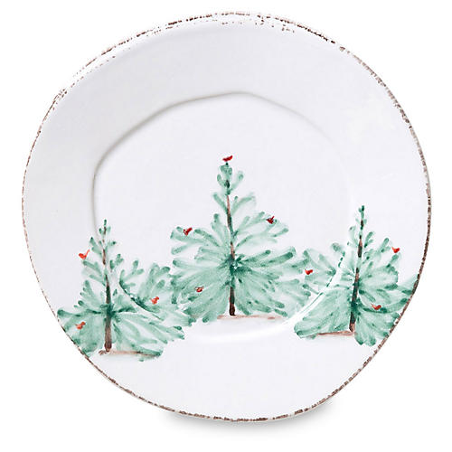 Lastra Holiday Salad Plate, White