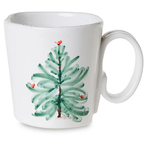 Lastra Holiday Mug, White