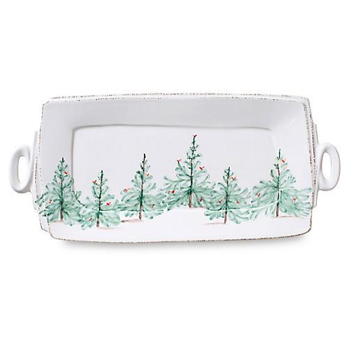 Lastra Holiday Platter, White