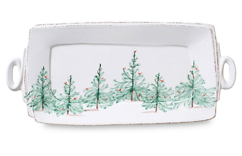 Lastra Holiday Platter - White - VIETRI