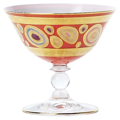 Regalia Dessert Bowl, Orange