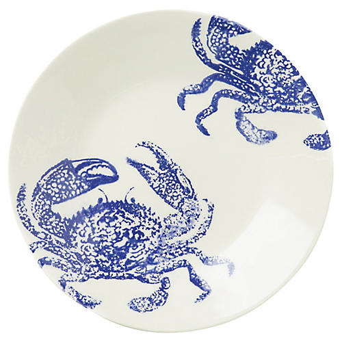 Costiera Crab Dinner Plate, White