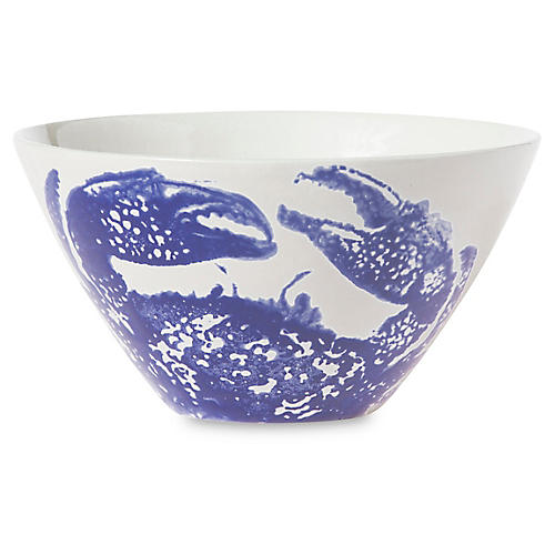 Costiera Crab Cereal Bowl, Blue