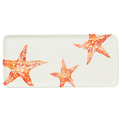 Costiera Rectangular Starfish Tray, White