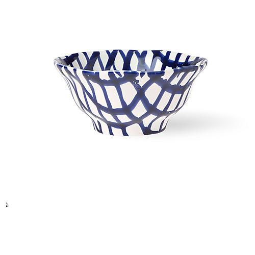 Net & Stripe Net Berry Bowl, Blue