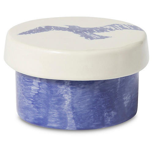 Costiera Seagull Round Box, Blue