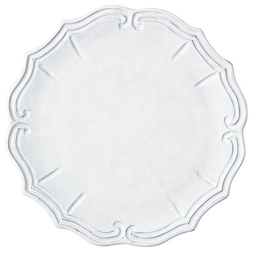 Incanto Baroque Charger, White