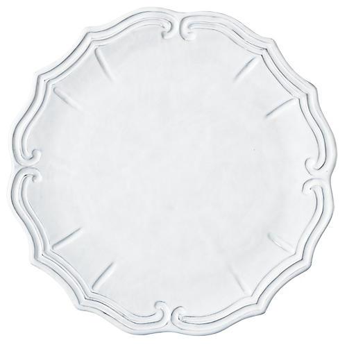 Incanto Baroque Charger, White