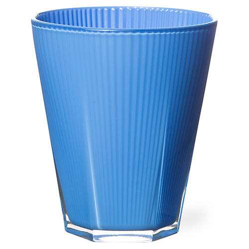 S/4 Accordion Tumblers, Blue