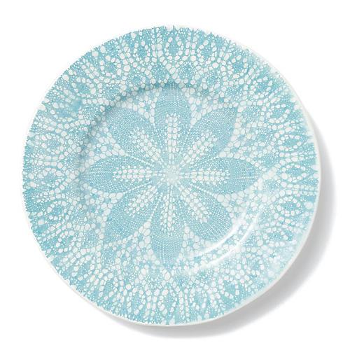 Lace Dinner Plate, Aqua