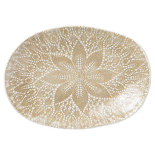 Lace Oval Platter, Natural