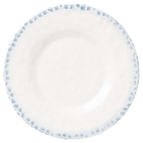 Mosaico Dinner Plate, Blue/White