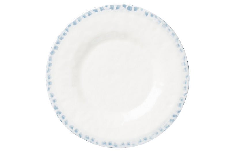 Mosaico Dinner Plate - Blue/White - VIETRI