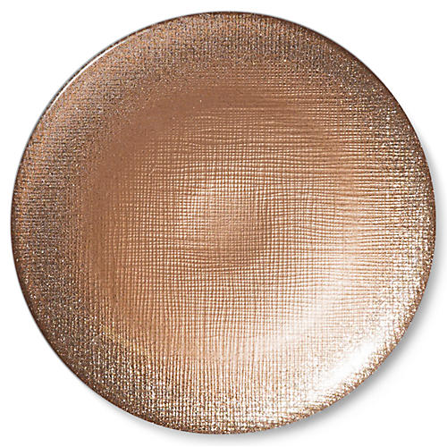 Glitter Canapé Plate, Ginger