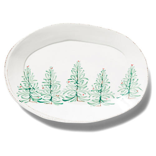 Lastra Holiday Platter, White/Multi