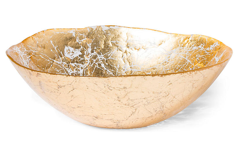 Moon Glass Bowl, Gold