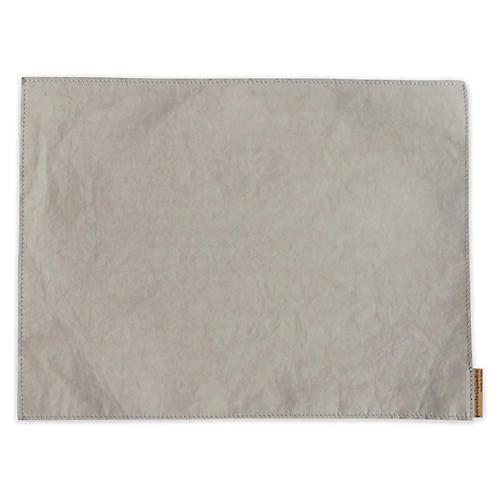 S/4 Italian Paper Place Mats, Gray