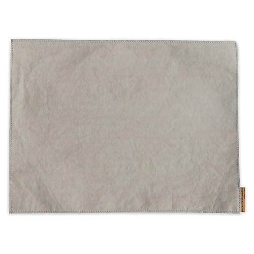 S/4 Italian Paper Place Mats, Gray