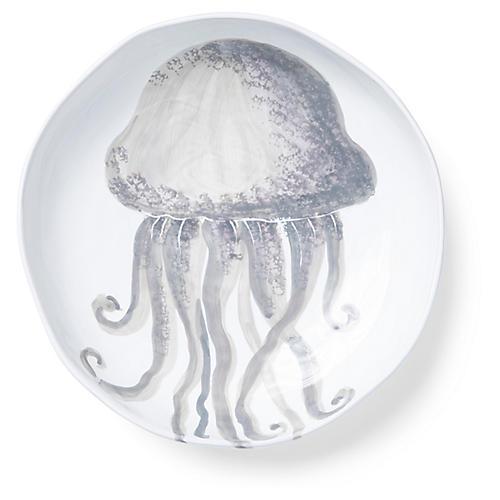 Marina Jellyfish Shallow Bowl, Ivory/Gray