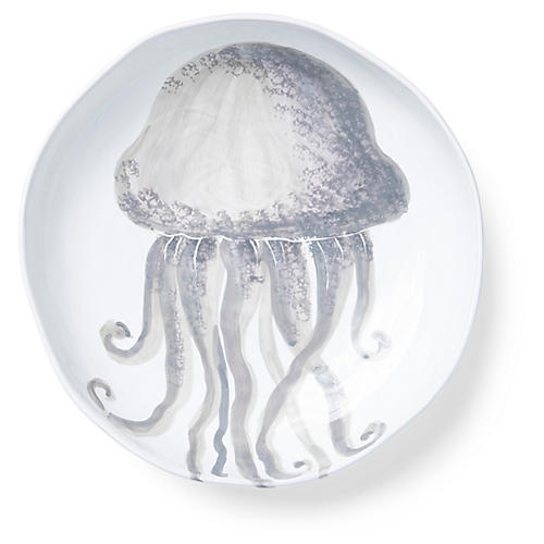 Marina Jellyfish Shallow Bowl, Ivory/Gray