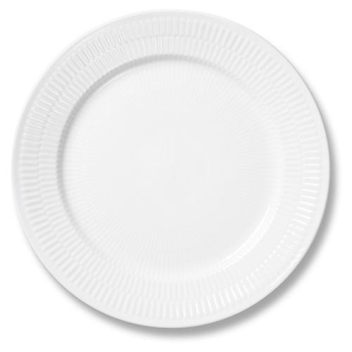 White Fluted Salad Plate, 8.75""