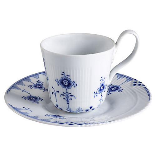 Blue Elements High Handle Cup & Saucer