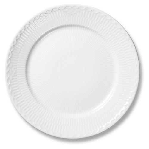 Half Lace Bread Plate, White
