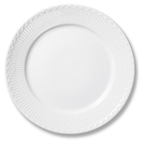 Half Lace Bread Plate, White