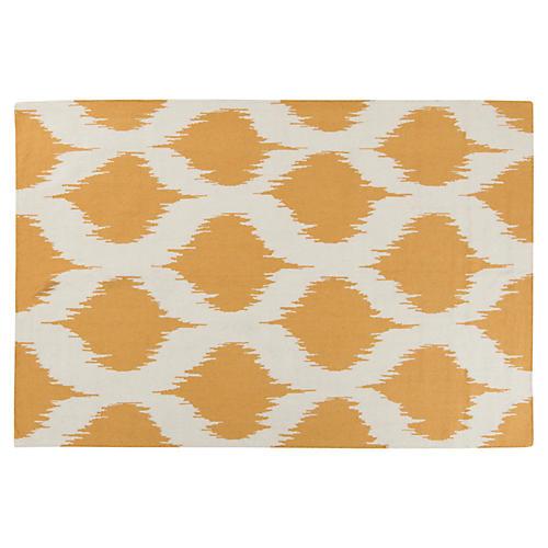 Leduc Flat-Weave Rug, Yellow