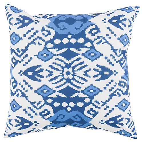 Latia Outdoor Pillow, Indigo