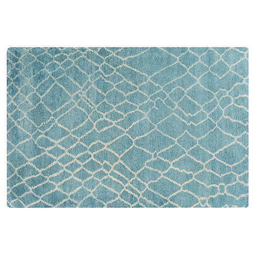 Mikanta Rug, Green/Blue