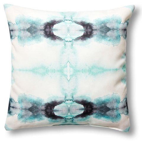 Tie Dye 18x18 Outdoor Pillow Green One Kings Lane