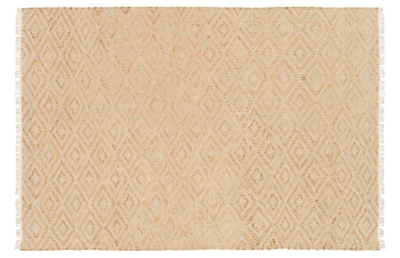 Batek Jute Rug, Ivory/Beige