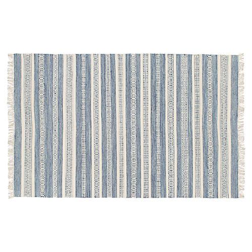 Nikki Handwoven Rug, Blue