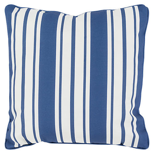Nautical Stripe Outdoor Pillow, Navy