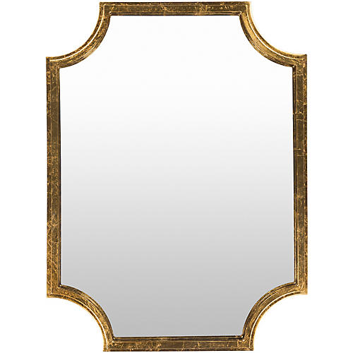 "Joslyn 29""x40"" Wall Mirror, Gold"