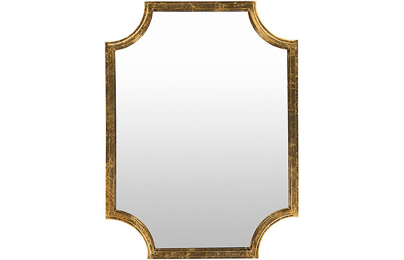 Joslyn Wall Mirror, Gold