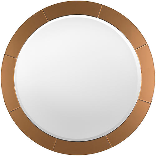 "Round 38"" Richvale Wall Mirror, Copper"