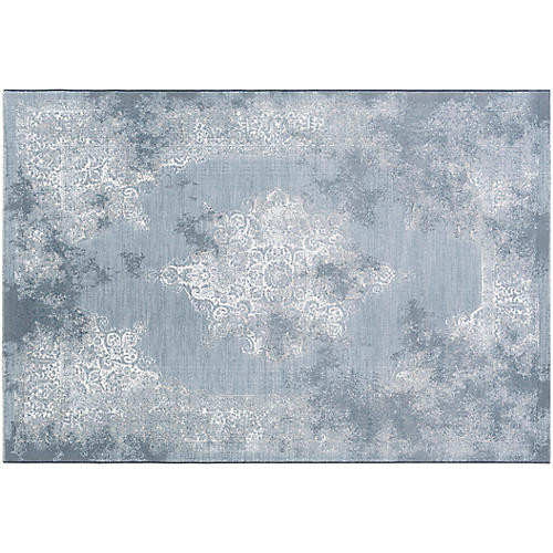 Betria Rug, White/Blue