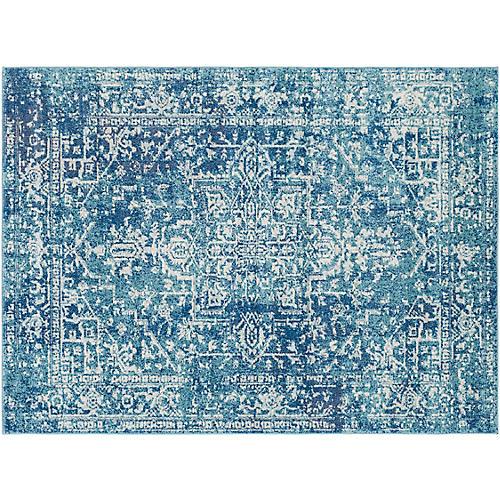 Corvi Rug, Blue/Neutral