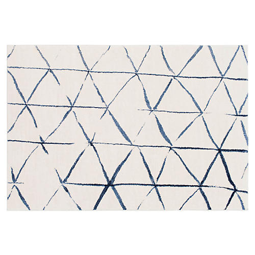 Fenrir Rug, Cream/Bright Blue